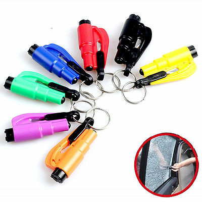 Mini Safety Keychain Car Emergency Rescue Glass Breaker Hammer Escape Tool New V
