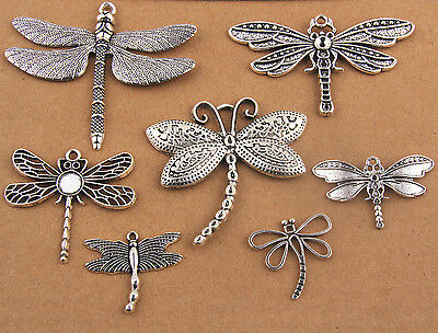 New Hot Mixed Dragonfly Charms Pendants Beads Jewelry Making DIY Accessories