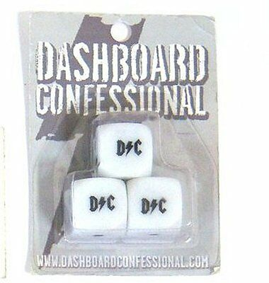 Dashboard Confessional D/c 3 Piece Dice Set New Sealed Official