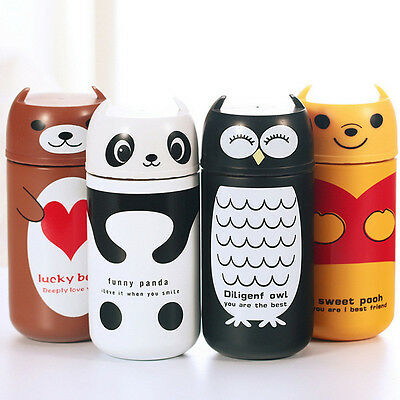 Lovely 220ml Panda &Owl Stainless Steel Thermo Mug Vacuum Flask Cup Water Bottle