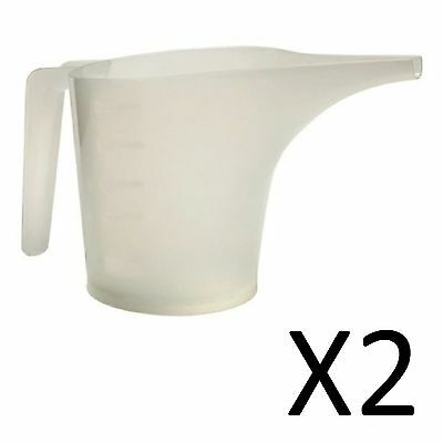 Norpro Translucent White 2-Cup Measuring Funnel Pitcher, Pouring Baking (2-Pack)