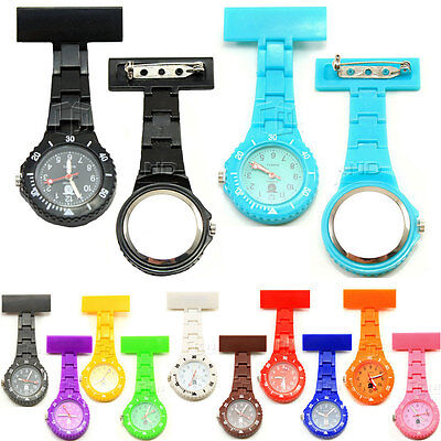 Unisex Nurse Watch With Pin Fob Brooch Pendant Hanging Pocket Quartz Watches New