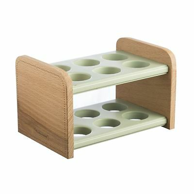 Typhoon Americana Wooden Egg Holder Storage Stand Rack