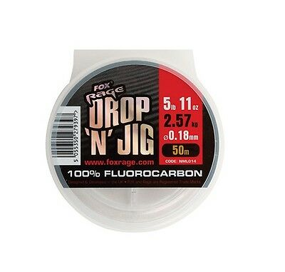 Fox Rage NEW Drop N Jig Fluorocarbon Line *All Diameters*