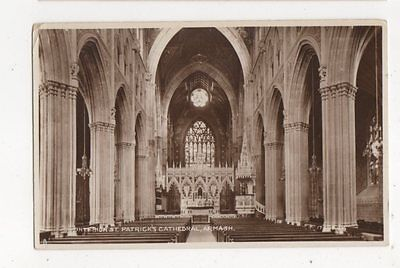 Interior St Patricks Cathedral Armagh Vintage RP Postcard 423a