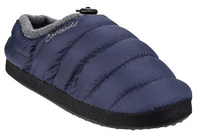 Cotswold Camping Slippers Boys Girls Kids Faux Fur Warm Padded Shoes
