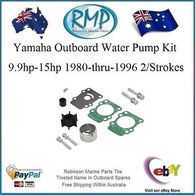 A Brand New Yamaha Water Pump Impeller Kit 9.9hp-15hp 1980-1996 # R 682-W0078-00