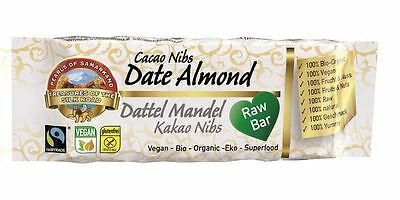12 Packs of Raw Organic Date Almond Cacao Energy Bar 40g