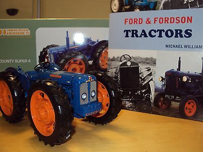 Uh 2787 1:16 Scale County Super 4 With Hb Book Ford & Fordson Tractors New Stock