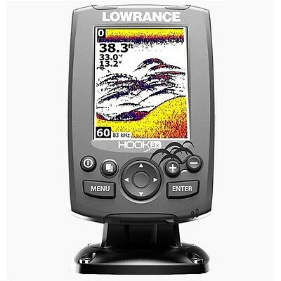 Lowrance Hook-3X Fishfinder with 83/200 transom mount transducer