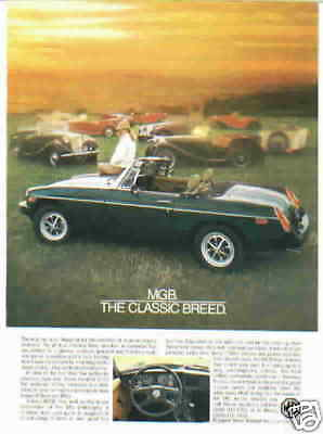 1980 Mgb ***original Vintage Ad***  The Classic Breed
