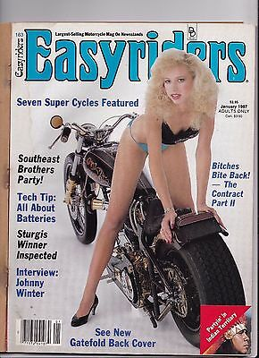 Easyriders Motorcycle Magazine JANUARY 1987 JAN