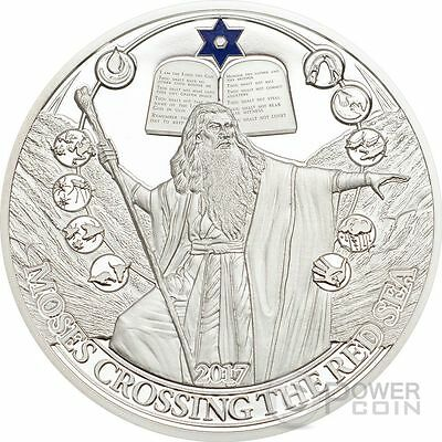 MOSES CROSSING THE RED SEA Biblical Stories Silver Coin 2$ Palau 2017