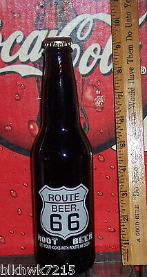 Route 66 Root Beer Get Your Kicks W/ Route 66 Be12 Oz Glass Bottle Not Acl