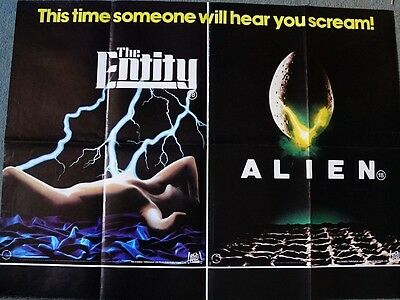Entity / Alien Original UK Quad Movie Poster 30.5 x 40 inches
