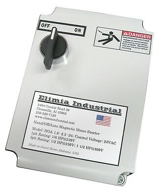 Elimia Magnetic Switch Controller, Nema 4X Enclosure, 50 Amp 230V 1 or 3 Phase