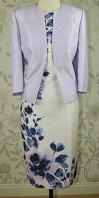 RRP £318 BNWT Jacques Vert Mother of Bride Floral Print Dress & Jacket Size 18