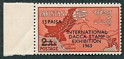 PAKISTAN 1963 13p on 2a brown-red SG186 MNH FG Stamp Exhibition Dacca b #W3