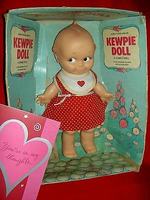 """""""KEWPIE"""" Girl by Cameo 9 1/2"""" jointed vinyl 1974, Rose O'Neill NRFB baby doll"""