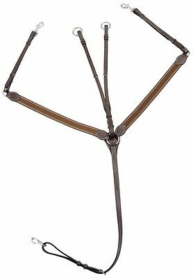 Henri de Rivel Elastic Breastplate Martingale w/Running Attachment HORSE /COB