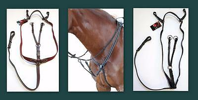 Kincade Elastic Event/ Hunt Breastplate Martingale Adjustable HORSE Black/ Brown