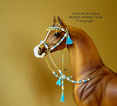 MODEL HORSE ARABIAN BEDOUIN STYLE BRIDLE LSQ Made to fit Peter Stone Models B3