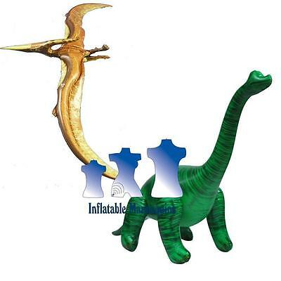 Inflatable Pteranodon and Brachiosaurus