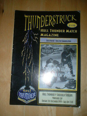 1999/2000 Hull Thunder V Sheffield Steelers Ice Hockey
