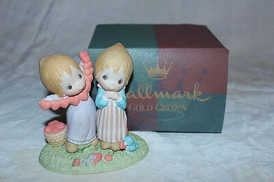 "Betsey Clark Hallmark Figurine""Friendship is the Art of Giving From the Heart"