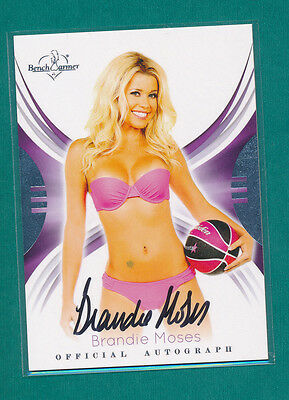 2015 Benchwarmer BRANDIE MOSES Autograph Card