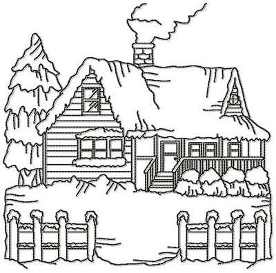 Country Snow 9 Machine Embroidery Designs Cd 4 Sizes Included