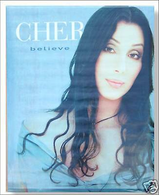 Cher! Believe Long Dark Hair Picture Wall Poster New