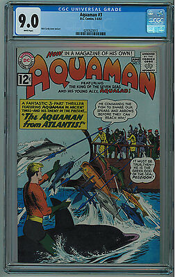 Aquaman #3 Cgc 9.0 High Grade White Pages 1962 013