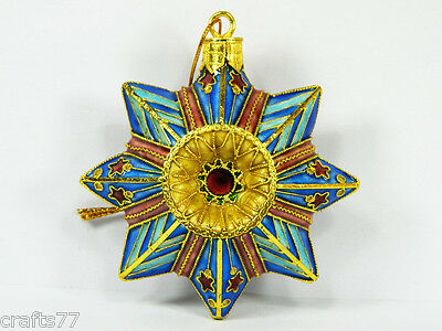 Cloisonne Copper Enamel Eight Pointed Octagonal Star Figurine,Home Ornament