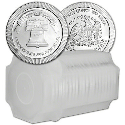TWENTY (20) 1 oz. Silver Round - A-Mark Liberty Bell Stackable .999