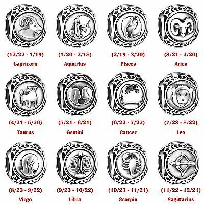 European Charms Constellation Logo Bead Fit 925 Sterling Silver Bracelets Chain