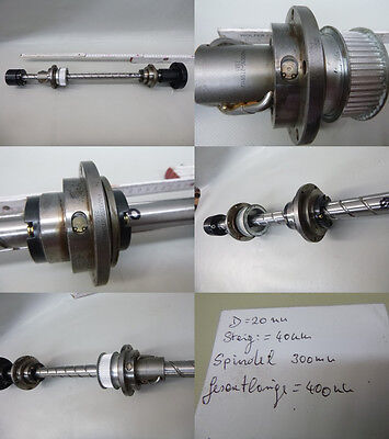NSK Ball screw drive D = 20mm, Tapered 40 mm with Spindle nut Top
