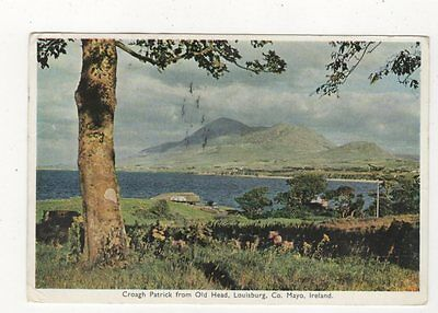 Croagh Patrick From Old Head Louisburg Co Mayo Ireland 1965 Postcard 881a