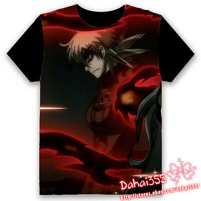 HD Fiery Terror Anime Hellsing Ova Black Cosplay Unisex Hentai T-shirt Tops #W