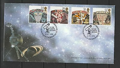GB Official FDC 1990 Astromomy, pmk Birthplace Isaac Newton, Cover by Covercraft
