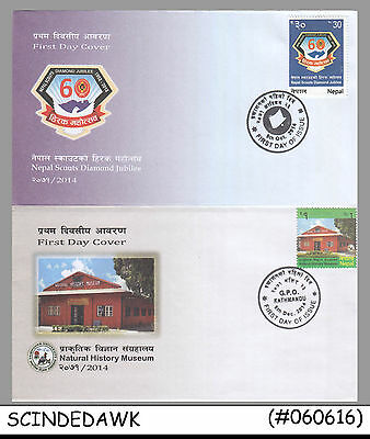 NEPAL - 2014 SELECTED FIRST DAY COVERS - 15nos
