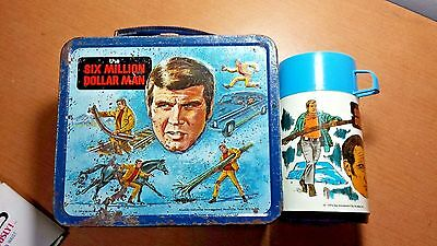1974 SIX 6 MILLION DOLLAR MAN LUNCH BOX & Thermos - AS IS