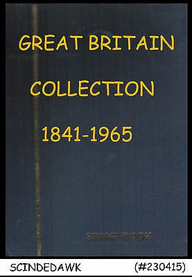 Collection Of Great Britain Old Stamps Of Qv Ked Kgv Kgvi In Small Stock Book