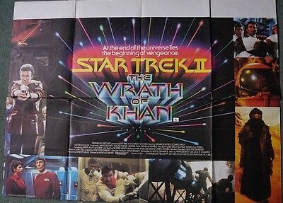 Star Trek II:The Wrath of Khan ( Original UK QUAD ONE SIDED Movie Poster) 30x40