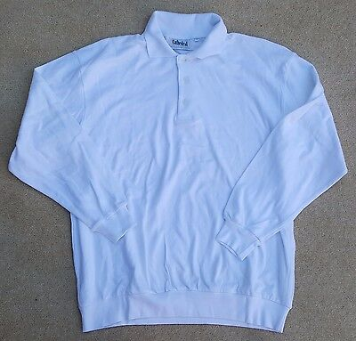 CATHEDRAL Mens Polyester Long Sleeve Welted Hem Polo Top Sz Large Ex Display