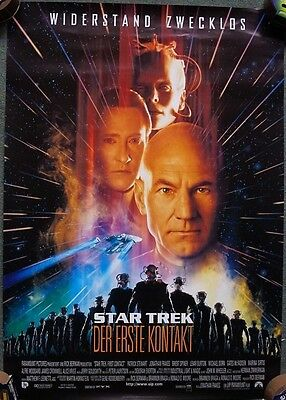 Star Trek: First Contact (1996) German one sided Poster Original 33 x 23 inches