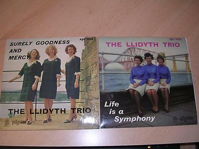 LLIDYTH TRIO - JOB LOT 2 x E.P.s -Pilgrim XPR 3044 & 3050 - P/Cs - 1966 &1968