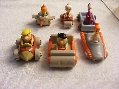 1990 Denny's Kids Meals The Flintstones Vehicles Lot of 6 Fred Barney Wilma Dino