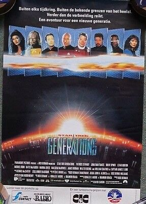 Star Trek: Generations (1994) Dutch one sided Poster Original 33 x 50cm