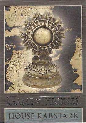 "Game of Thrones Season 3 - ""Karstark"" Embossed Map Marker Sigil Chase Card MM4"